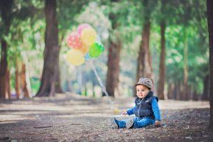 globos, colores, bebé