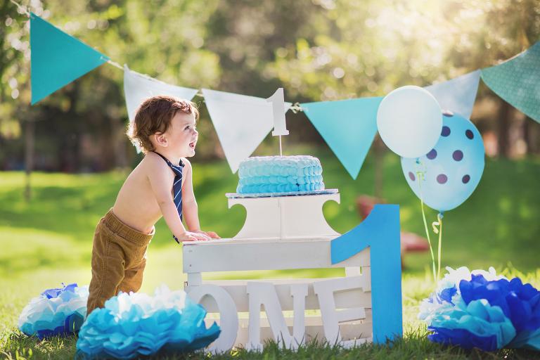 pastel, globos, parque, diversión