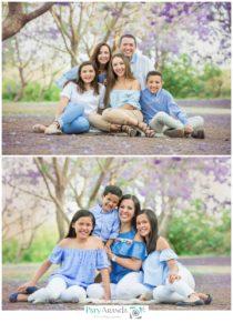 Foto de familias sentadas en un parque