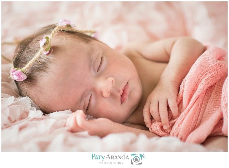 Sesión de fotos de recién nacida en León, Gto.