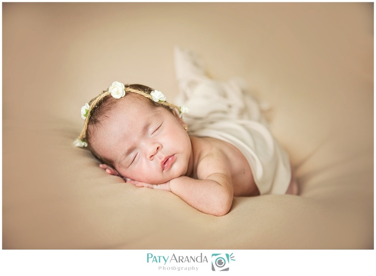 Fotografía de bebe dormida en León, Gto.