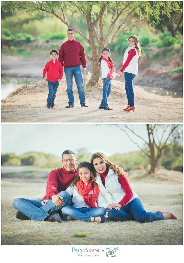 Sesión de fotos de familia tomada al aire libre en León, Gto.