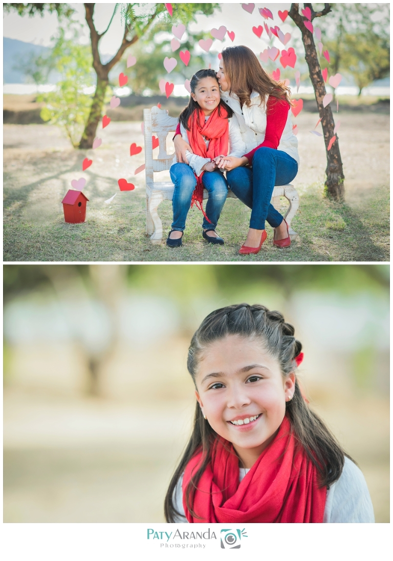 Fotografía de madre e hija tomada al aire libre en León, Gto.