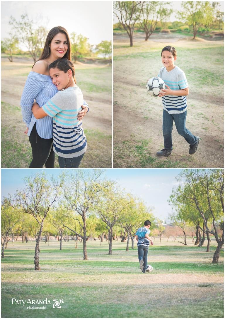 Fotografía de madre e hijo tomada en el parque metropolitano de León, Gto.