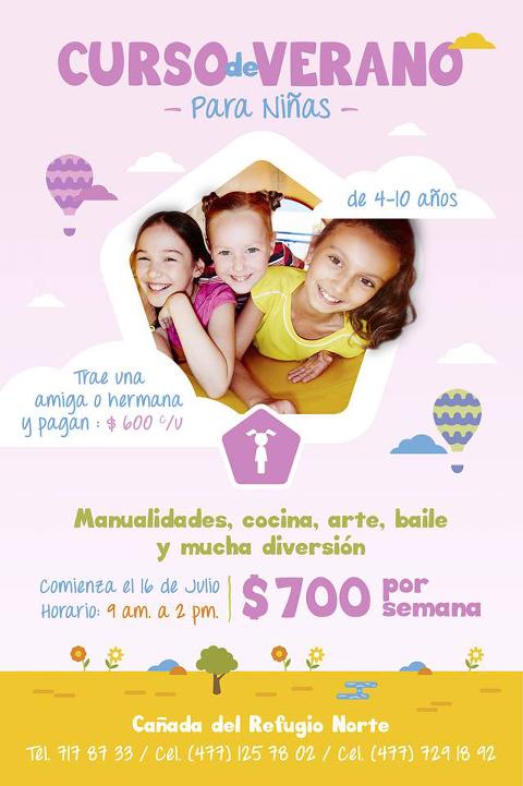 curso de verano para niñas en León, Gto