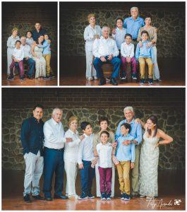 Fotografía de familia con abuelos en Léon, Gto.