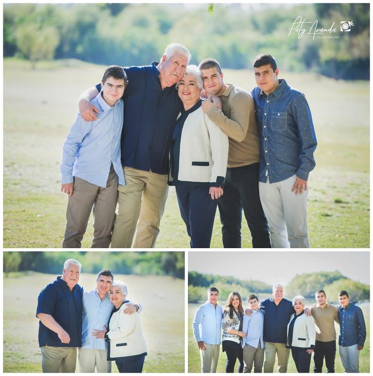 fotografía de familias con abuelos al aire libre en León