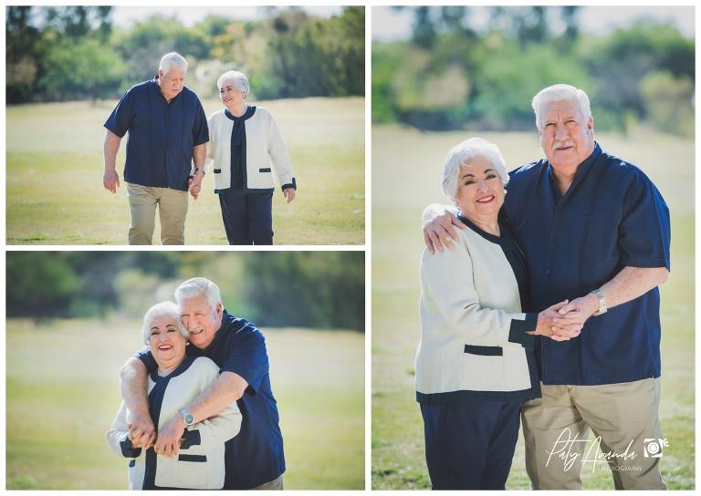 fotografía de abuelos celebrando su aniversario en León, Gto.