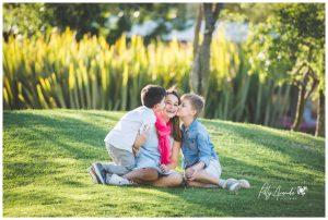 Fotografía de mamá e hijos en México